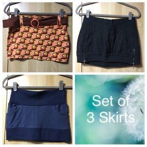 Set of 3: Mini Skirts